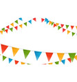color triangle flags garland horizontal vector image vector image