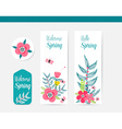 Colorful Abstract Flower Background Summer Design vector image