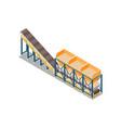 concrete production conveyor composition vector image vector image