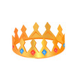 crown with jewelry poster vector image