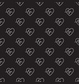 dark heartbeat seamless pattern or vector image vector image