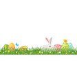 easter green grass border design vector image