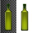 extra virgin olive or sunflower oil in bottle vector image vector image