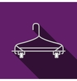 Flat icon for gray hanger vector image