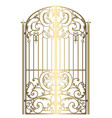 forged metal gate vector image