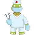 Funny Turtle Doctor vector image vector image