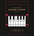 grand piano concert poster design piano keys vector image