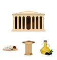 greece country tradition landmark greece set vector image vector image