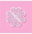 Greeting card with a flower from lace hearts vector image