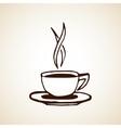 Hand Drawn Coffee Cup Sketch vector image