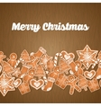 Happy holidays and merry christmas card design vector image