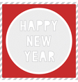happy new year greeting card1 vector image vector image