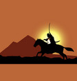 horse knight background template vector image