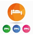 Human in bed icon Rest place Sleeper symbol vector image vector image