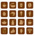 icon set of coffee house coffee theme icons vector image