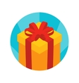 Isometric gift box icon vector image