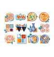 japanese restaurant food set asian cuisine vector image vector image