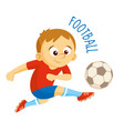 kinds of sports athlete football vector image vector image
