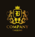 luxury letter b logo vector image vector image