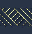 luxury patterns dark blue and gold gradient vector image