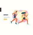 marathon race group vector image vector image