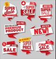 modern labels badges and tags 4 vector image vector image