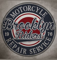motorcycle custom motorcycle label vintage vector image