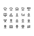 network line icons vector image vector image