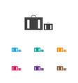 of trip symbol on suitcase vector image vector image