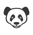 panda logo sign on white background vector image vector image