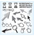 pixilated symbols vector image