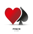 Playing card suit logo logotype design vector image