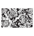 rug is made out double cotton in a floral vector image vector image