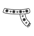 scarf with snowflakes hearts decoration merry vector image vector image