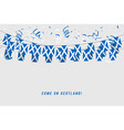 scotland garland flag with confetti vector image vector image