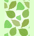 seamless texture with transparent green leaves vector image vector image
