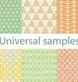 Set from six original samples on a white vector image vector image