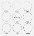 set of dividers round frames for decoration vector image vector image