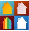 Set of four simple abstract house backgrounds vector image vector image