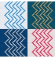 Set of Seamless Knitted Pattern Knit Texture vector image vector image