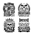 skull t-shirt prints isolated vector image