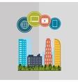 Smart city design editable graphic vector image vector image