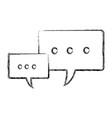 speech bubbles message communication dialog vector image vector image