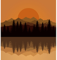 Sunset mountain vector | Price: 1 Credit (USD $1)