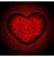 techno heart background vector image vector image
