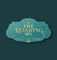 the roaring 20s art deco label template in 3d gold vector image vector image