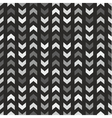 Tile pattern with grey and black arrows on black vector image vector image