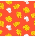 Tropical grunge pattern with fruits and leafs vector image vector image