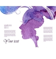 Watercolor Fashion Woman with Long Hair vector image vector image