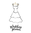 wedding planner vector image